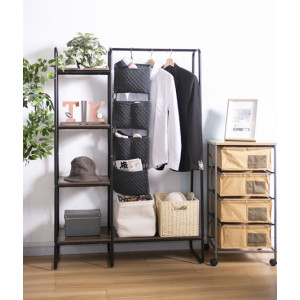 Heavy Duty Garment Rack with 4 Tier and Shoe Bench