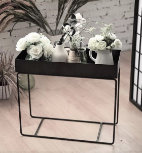 Modern metal storage rack flower stand