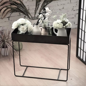 Sturdy Construction Metal End Table