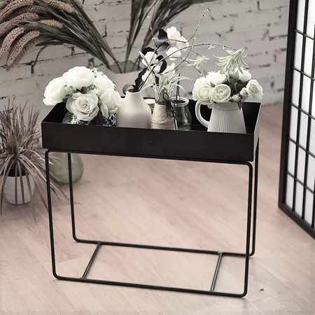 Modern metal storage rack flower stand