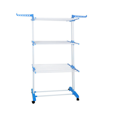3 Tier Moveable Foldable Clothes Drying Rack