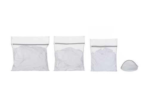 New Arrivals Household Convenience Portable Polyester Mesh Laundry Bag