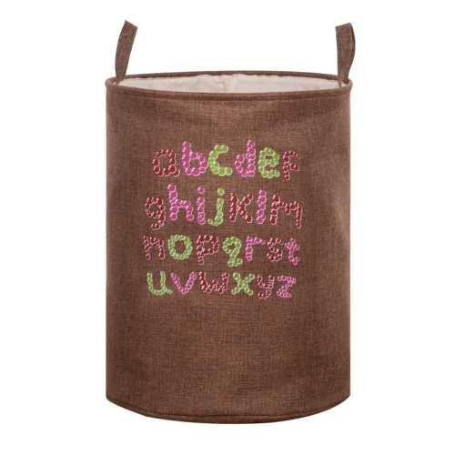 Capacity Cartoon Print Fabric Hamper Canvas Laundry Basket With Handles