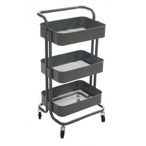3 Tier Metal Multifunction Serving Small Trolley Cart with Handle
