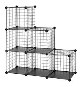 Metal Wire Storage Cubes Modular Shelving Cabinet DIY Closet Storage Rack