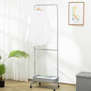 Height quality custom wholesale With Storage Basket Cloth Hanger Rack