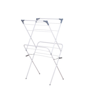 2-tier Foldale Anti-Rust Steel Drying Rack