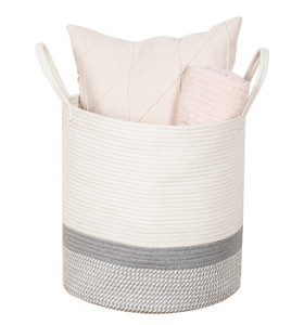 50L Fabric Storage Cotton Rope Woven Basket
