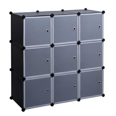 Multipurpose bedroom 6 Cubes Storage Plastic Display Diy Wardrobe