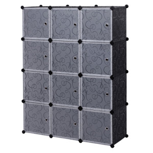 12 Cubes Space-Saving Multifunction Sturdy Plastic Organizer Storage Shelves
