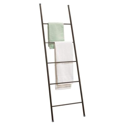 Multi Layers Free Wall Standing Metal Holder Towel Rack Bathroom