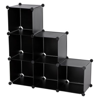 Multipurpose bedroom 6 Cubes Storage Plastic Display Shelf