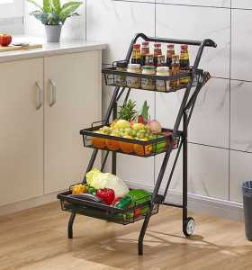 Multi-angle Storage Stable And Not Deformed 3 Tier Food Hand Carts & Trolleys