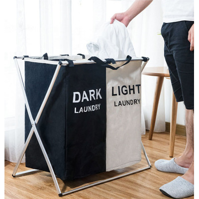 Practical Load Dirty Clothes Modern Wholesale Bathroom Collapsible Double Foldable Laundry Hamper