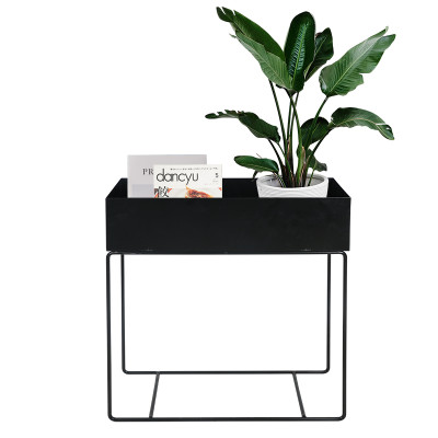 Simple Assembly Metal Iron Outdoor Plant Rack Shelves Plant Rack Stand