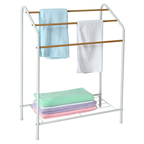 2020 Popular Product Standing Shelf Metal Iron Pipe Drying Bath Towel Rack