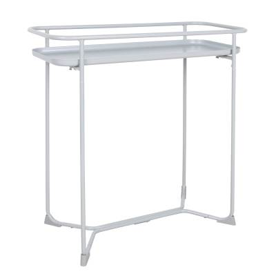 Nordic Iron Wire Frame Rectangular Side Flower End Table White Coffee Table