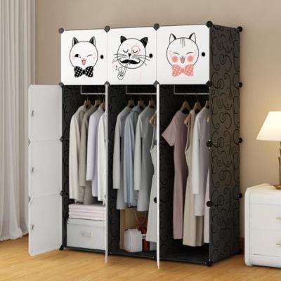 Space-Saving Amoires Multifunctional 12 Cubes  Baby Cloth Organizer Storage Shelves Plastic Wardrobes