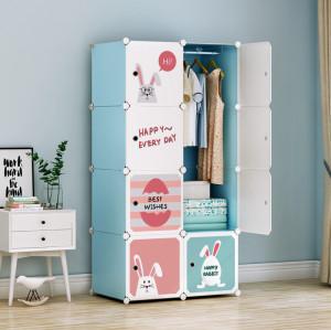 8-Cube Closet Storage Organizer DIY Plastic Closet Cabinet Modular Cube Storage