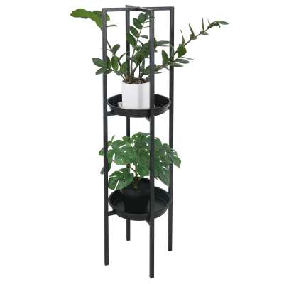 New Black Metal Plant Rack Planter Pot Display Modern Plant Flower Stand Rack