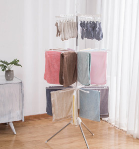 Wholesale Hot Selling Collapsible Bathroom and Balcony Movable Vertical Towel Holder Rack