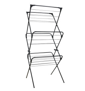 Laundry Towel Rack Folding 3 Tier Clothes Drying Rack Standing Metal Outdoor Iron ABS Garment Laundry Towel Blanket