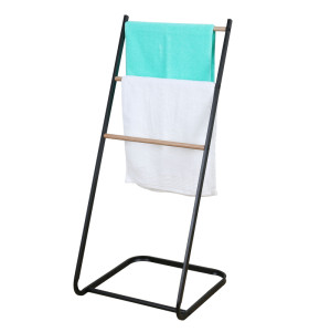 2021OEM Factory Trapezoidal Shelf 3 Tier Metal Iron Towel Rack Stand