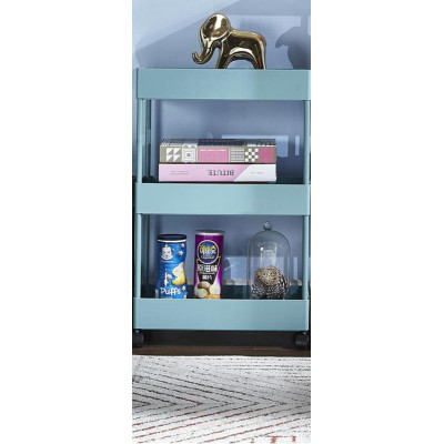 Bathroom Plastic Utility Cart, Rolling Kitchen Storage 3 Tier Trolley