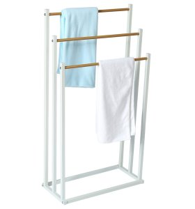 Wholesale OEM Bathroom 3 Tier Stand Metal Towel Rack With Powder Coating