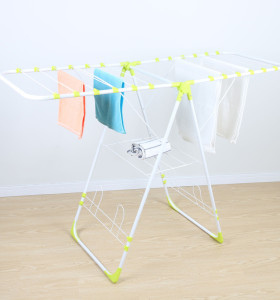 2021 Factory Balcony Outdoor Adjustable Foldable Laundry Cloth Dry Rack
