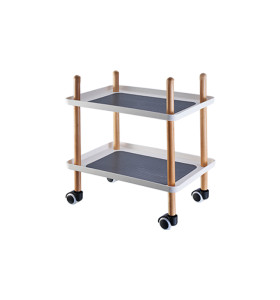 Popular Carts And Trolleys Utility Wooden Home Trolley Storage Rack Plastic Utility Cart