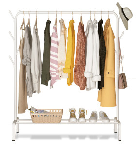 Factory Price Lower Storage Simple Nordic Style Floor Style Laundry Clothes Drying Hanger Rack