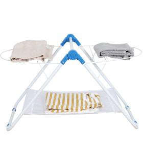 Metal Light Tabletop Laundry Drying Rack for Bathtube Multifunctional Light Folding Iron White Shrink Wrap Support Morden 1.06kg