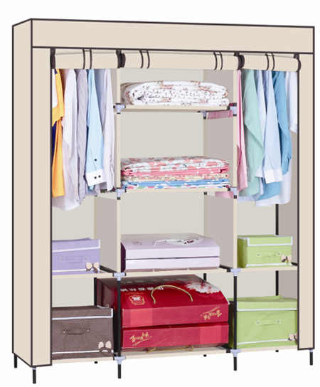 Portable Non-woven Fabric Wardrobe