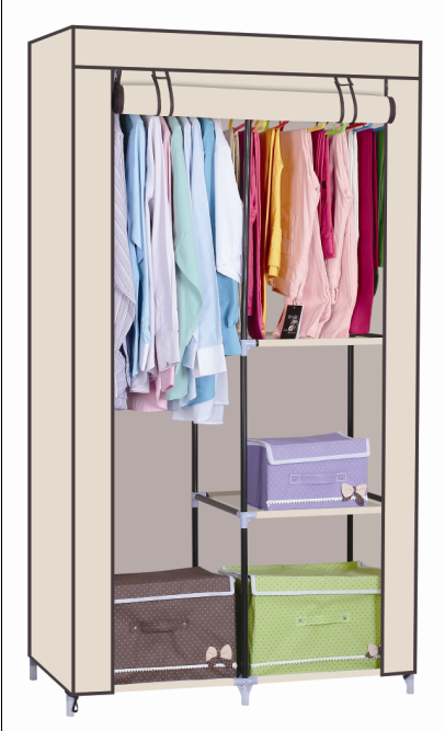 Non-woven Fabric Wardrobe with cover for Bedroom