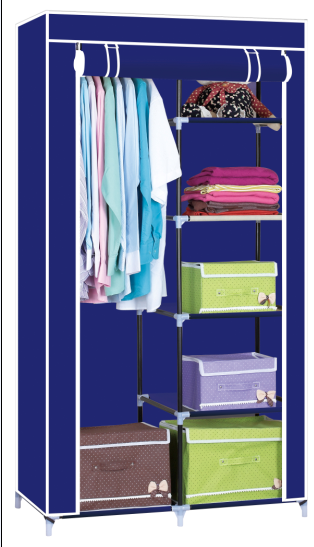 Freestanding Garment Wardrobe with Sturdy Non-woven Fabric Cover