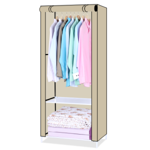 Portable Oxford Cloth Cover Wardrobe with Rod