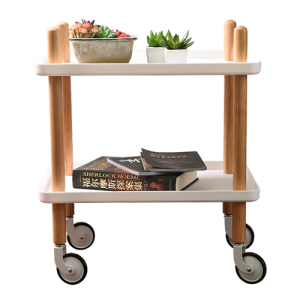 Modern Removeable Two Layer Kitchen Rolling Cart