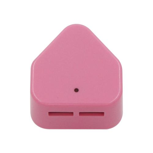Pink 2 Dual USB port 5V 2.1A USB charger adapter for South Africa