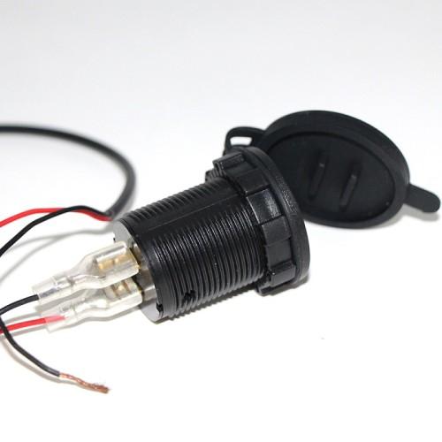 New Waterproof Motorbike Motorcycle phone charger 12 V Cigarette Lighter 5V USB Power Port Adaptor Outlet Socket Car Charger