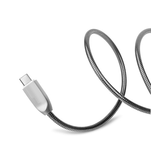 Metal USB Charging Cable Data Transfer Cord Zinc Alloy Charger Wire