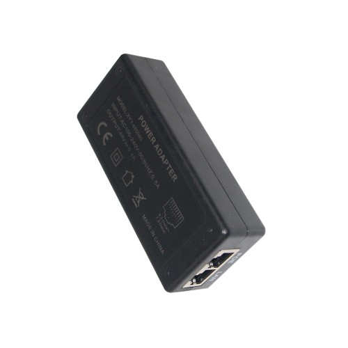 Lan Network Ethernet Cat5 Camera System Passive Power Injector 48vdc Poe Adapter
