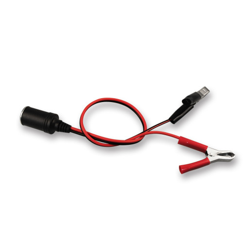 Black Color 12v 24v Car Cigarette Lighter Socket To Solar Car Battery Cord Cable Adapter With Clips