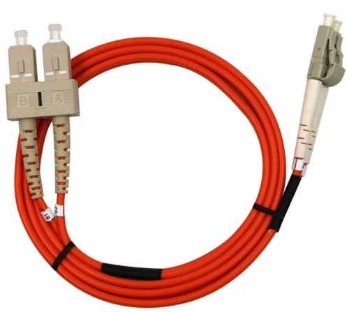 1Meter 3ft LC to ST Duplex 9/125 Single-Mode Jumper Optical Patch Cord LC-ST Fiber Optic Cable