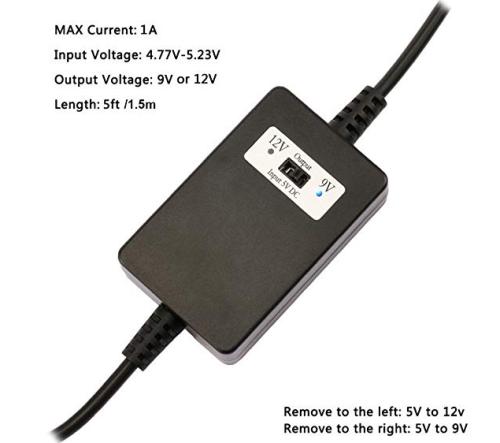 DC 5v to DC 9v 12v Adjustable Step-up Voltage Regulator Converter Switch