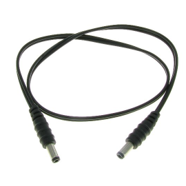 Black PVC 12V Male to Male DC Power Cable