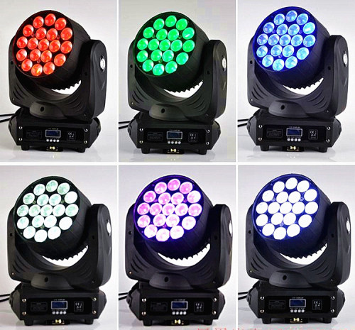 19*12W LED Moving Head Wash Zoom RGBW 4in1 Color