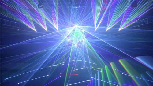 3W RGB Animation Laser Light Show Projector for DJ Club
