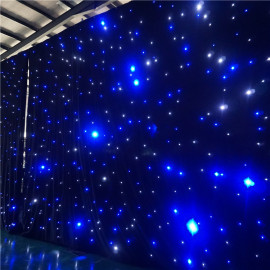 DMX LED Star Curtain Backdrop Blue White/ RGB Drop Cloth Curtain Lights