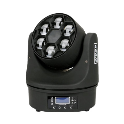 LED 6*12W Beam Wash Light mini Bee Eye Moving Head
